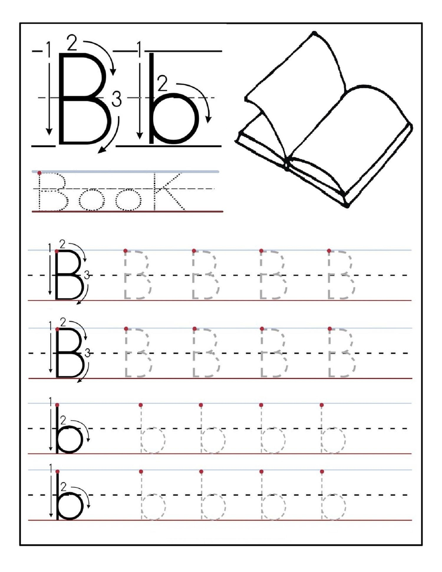 Alphabet Tracing Printables Best For Writing Introduction - Free Printable Letter Writing Worksheets