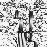 Amazon Rainforest Coloring Pages For Kids | Brazil Inspiration   Free Printable Waterfall Coloring Pages