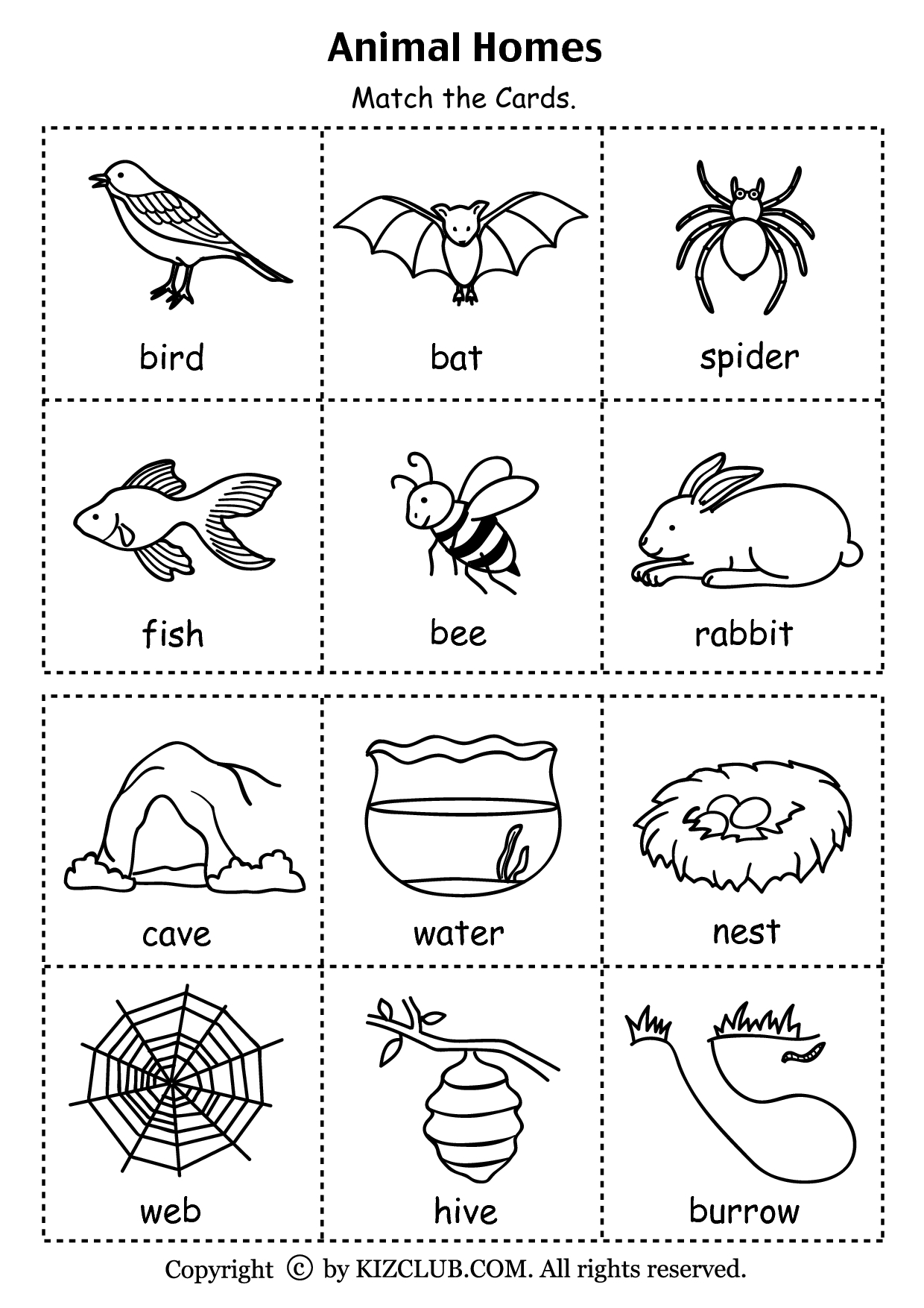 Animal Homes (Pdf) | Stuff To Buy | Preschool Science, Animal - Free Printable Worksheets Animal Habitats