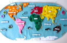 Animals Of The Ocean For The Montessori Wall Map & Quietbook With – Montessori World Map Free Printable