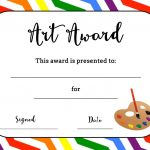 Art Award Certificate (Free Printable) | Art | Art Classroom   Free Printable Halloween Award Certificates