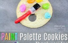 Artist Paint Palette Cookies Plus Bonus Printable Gift Tag | Recipe – Free Printable Paint Palette