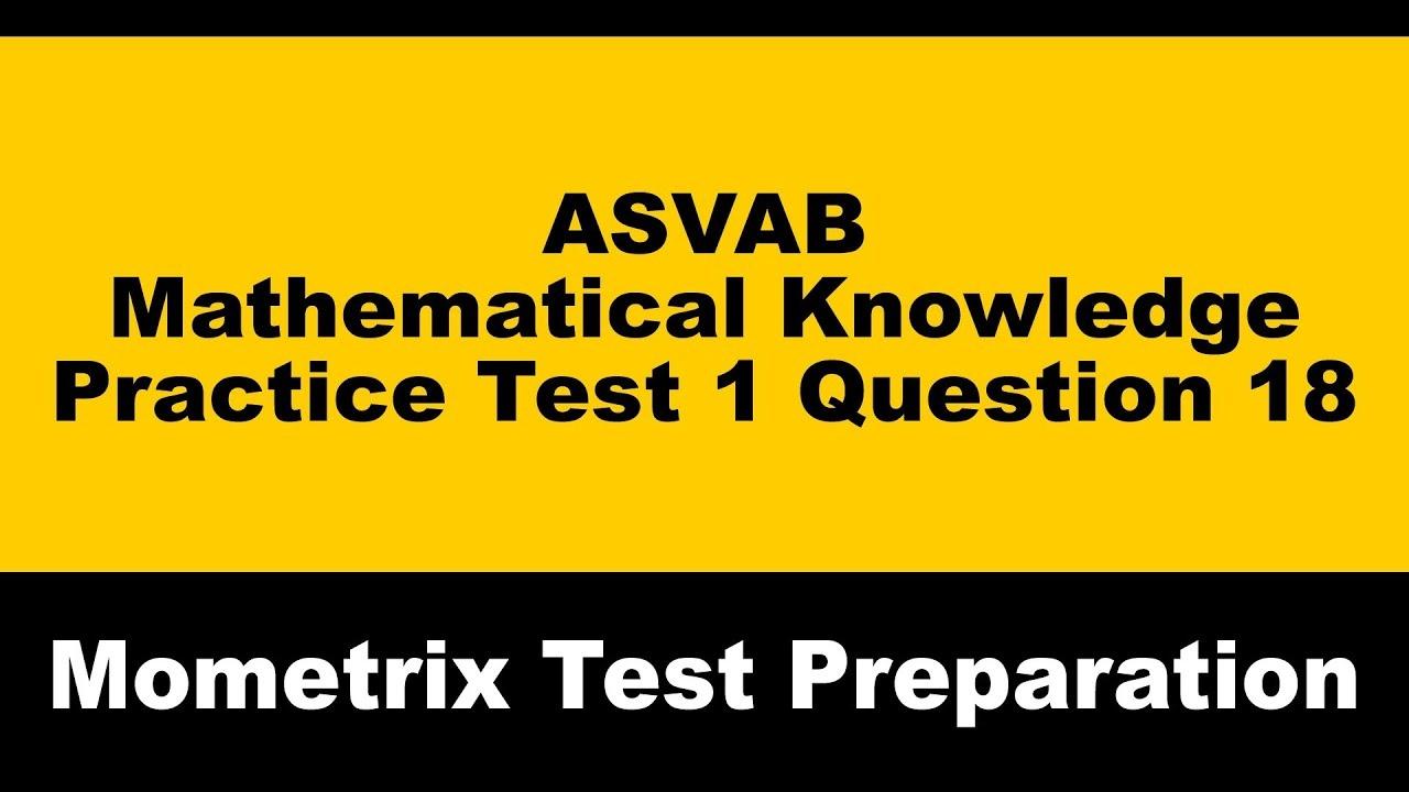 Asvab Practice Test Answers - Free Printable Asvab Math Practice Test