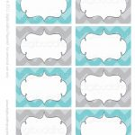 Ava Modern Chevron Candy Buffet Food Mailing Labels Cards. Printable   Free Printable Food Tags For Buffet
