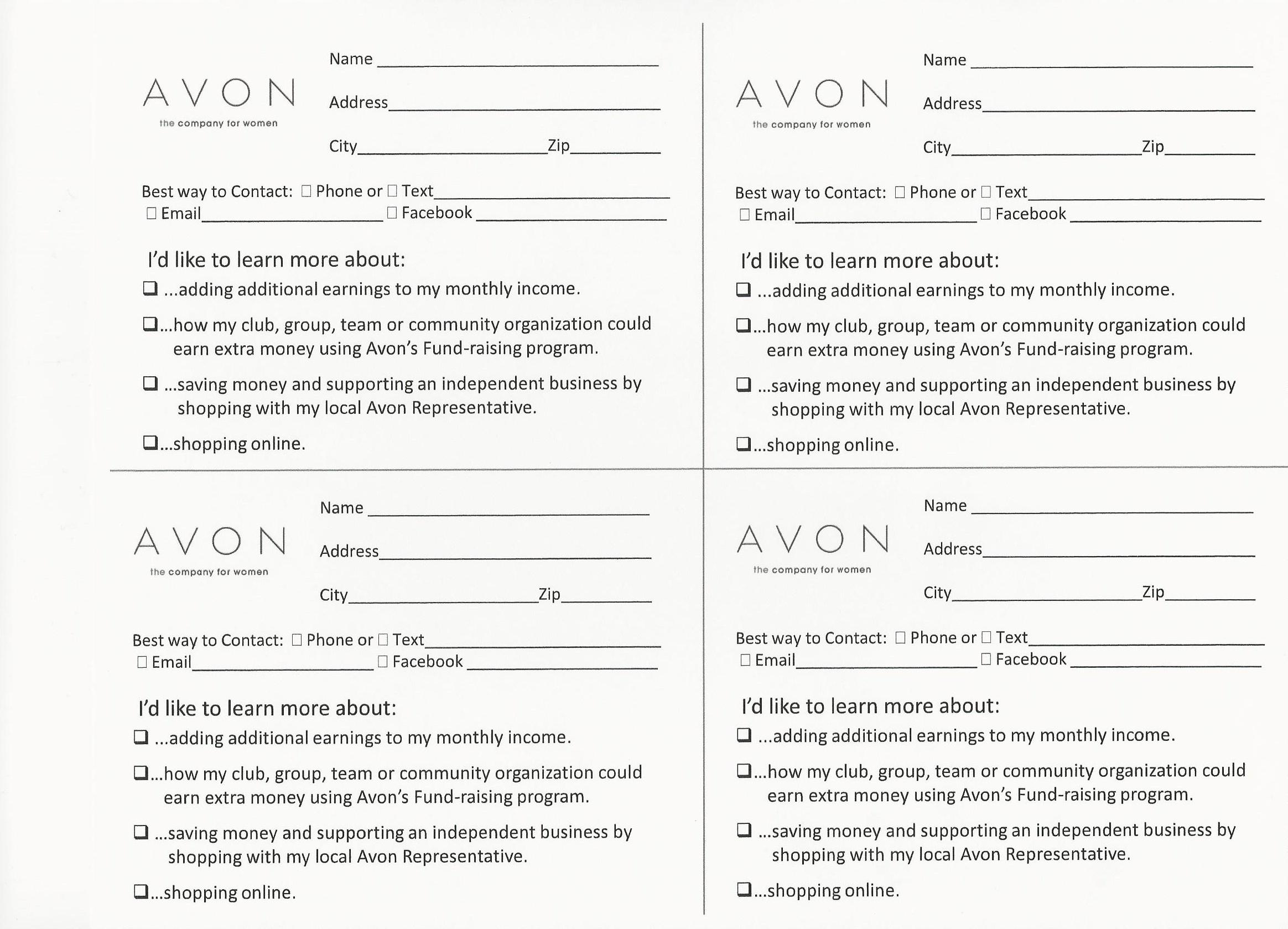 Avon Flyers & Charts   Avon Beauty - Free Printable Avon Flyers
