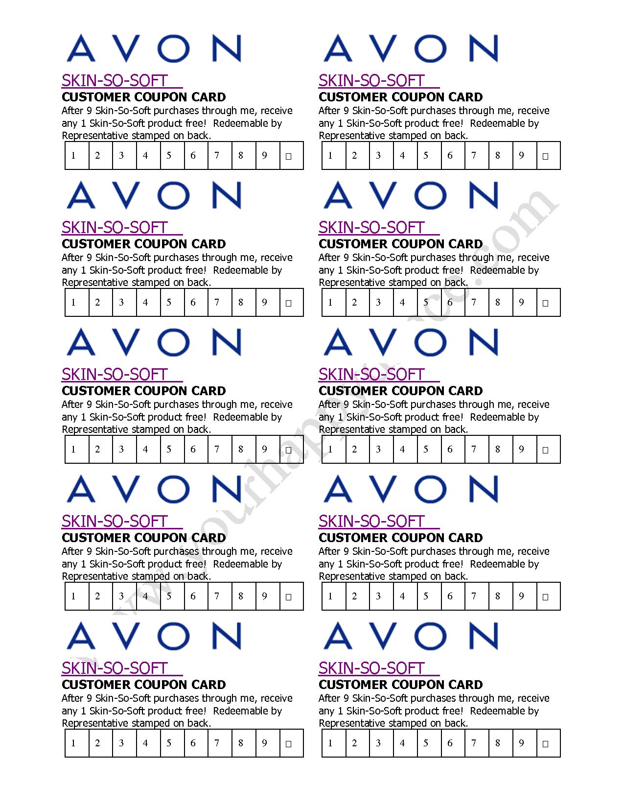 Avon Skin So Soft Coupon Card  …   Avon In 2019… - Free Printable Avon Flyers