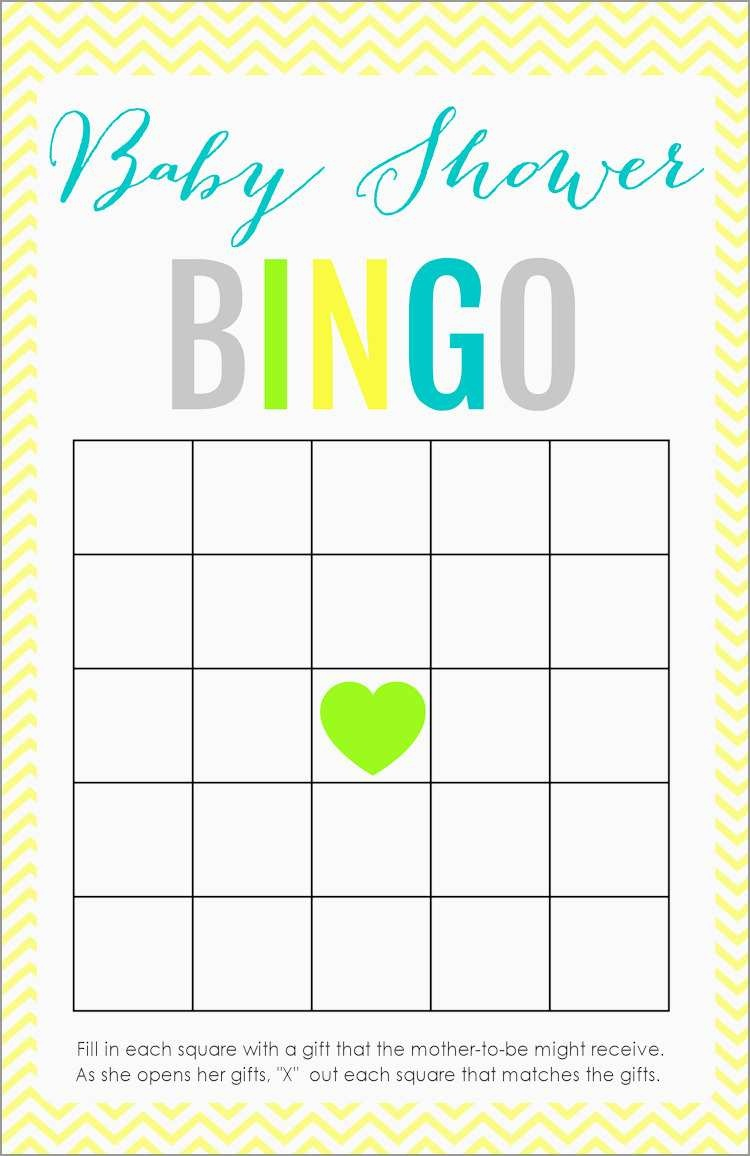 Awesome Free Baby Shower Bingo Blank Template   Best Of Template - Baby Bingo Free Printable Template