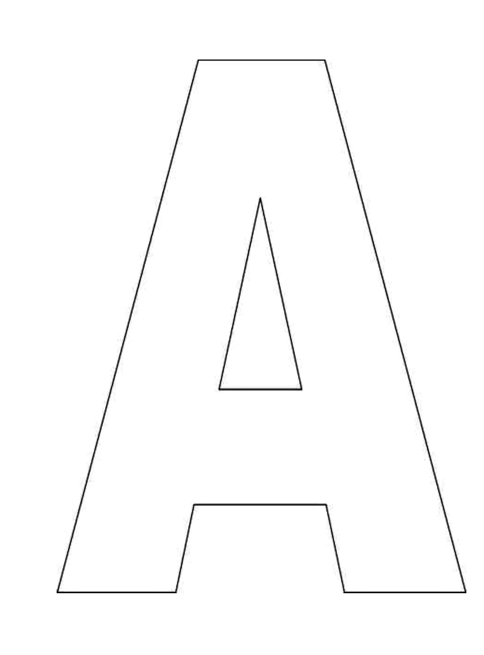 Awesome Free Printable Alphabet Letters Stencils | Www.pantry-Magic - Free Printable Letter Templates