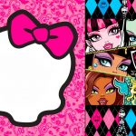 Awesome Free Printable Monster High Birthday Invitations Layout   Free Printable Monster High Stickers