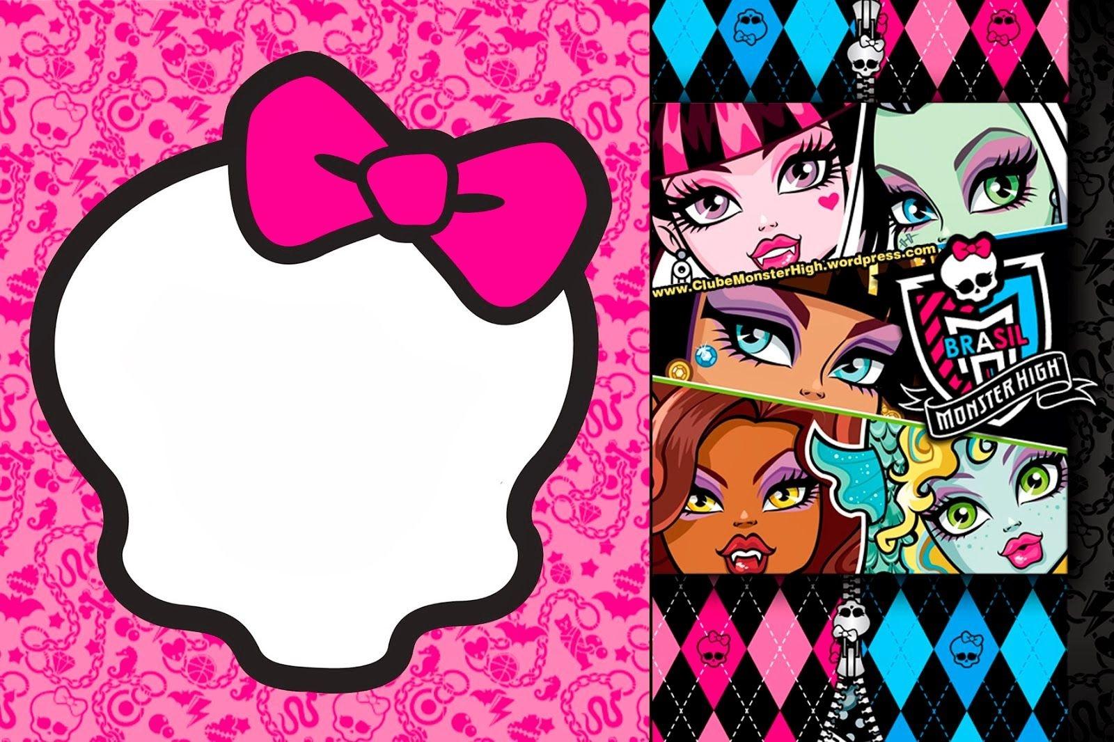Awesome Free Printable Monster High Birthday Invitations Layout - Free Printable Monster High Stickers