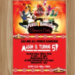 Awesome Power Ranger Birthday Invitations | Bagvania Invitation   Free Printable Power Ranger Birthday Invitations