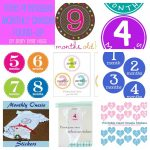 Baby Bear Hugs: 7 Free Printable Month Stickers Round Up   Free Printable Baby Month Stickers