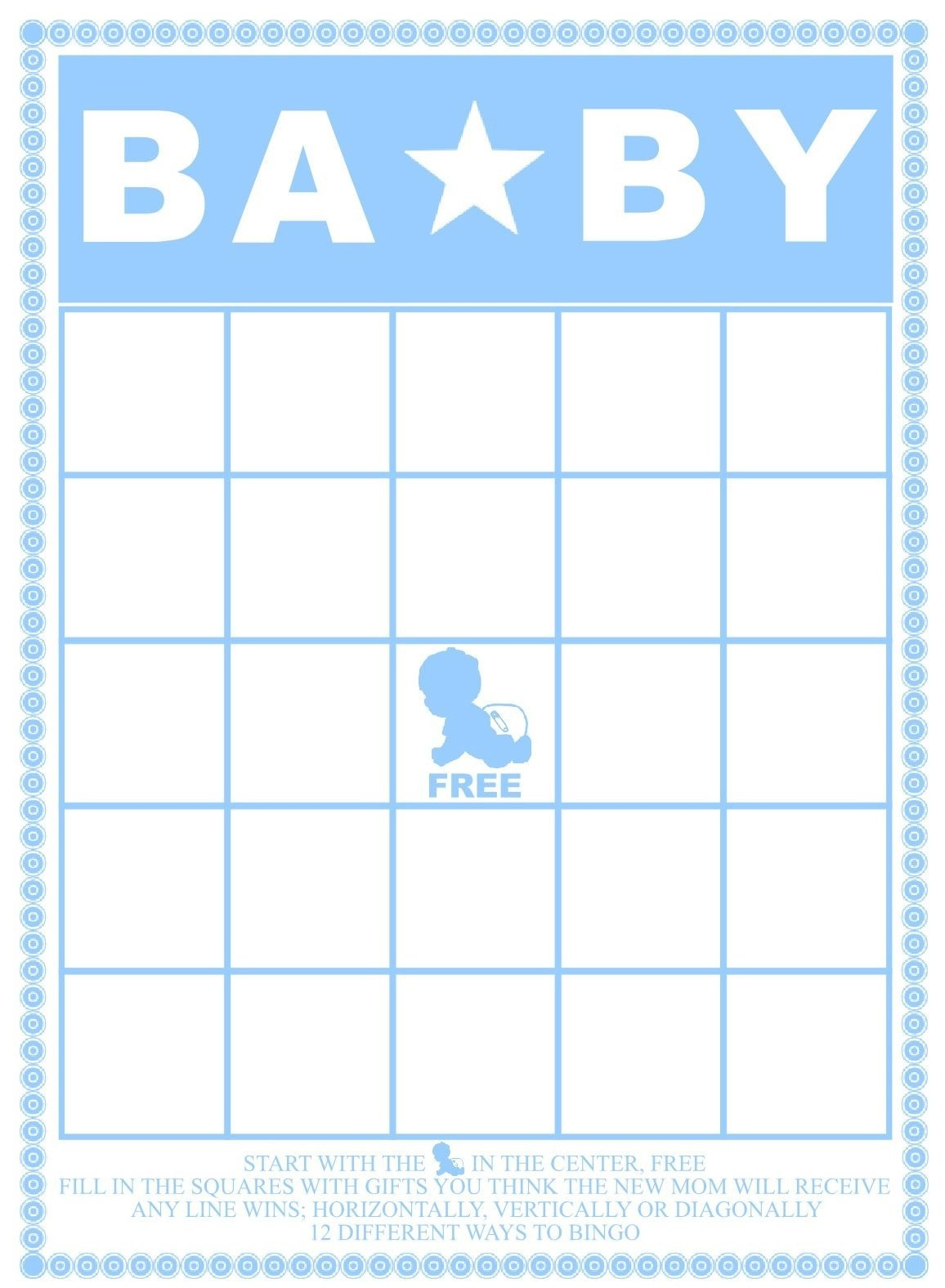 Baby Bingo Template - Kaza.psstech.co - Baby Bingo Free Printable Template