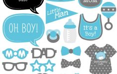 Baby Boy – Baby Shower Photo Booth Props Kit – 20 Count | Clip Art – Free Printable Boy Baby Shower Photo Booth Props