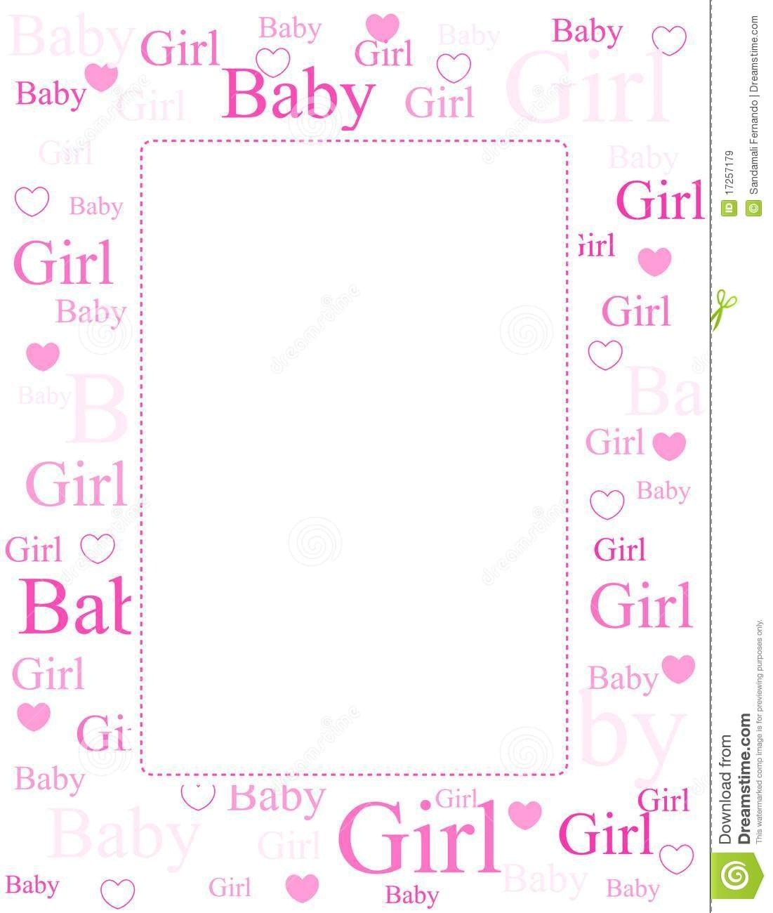 Baby Girl Arrival Card / Background Stock Vector - Illustration Of - Congratulations On Your Baby Girl Free Printable Cards