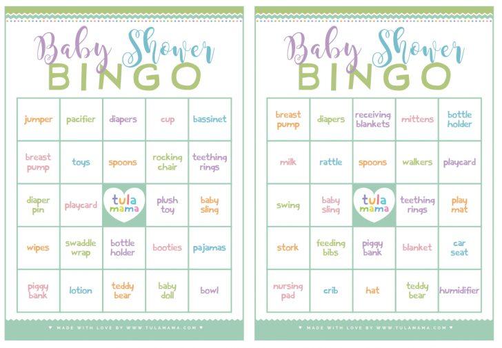 50 Free Printable Baby Bingo Cards