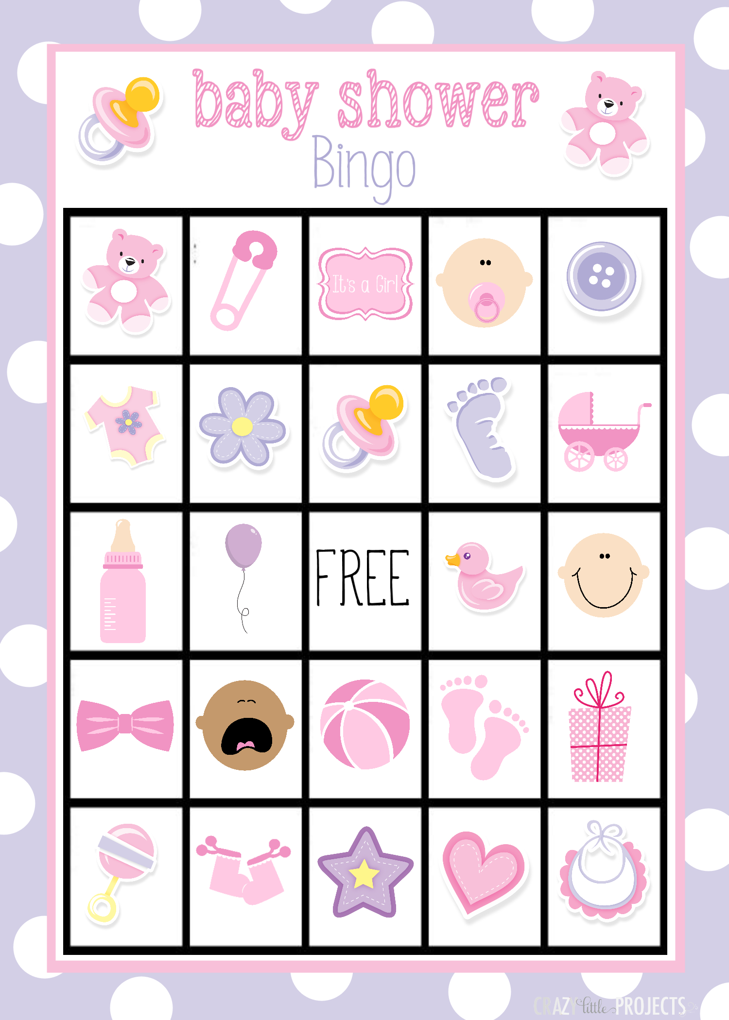 Baby Shower Bingo Cards - Baby Bingo Game Free Printable
