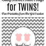 Baby Shower Favor Tags For Twins | The Top Pinned | Free Baby Shower   Free Printable Baby Shower Favor Tags Template