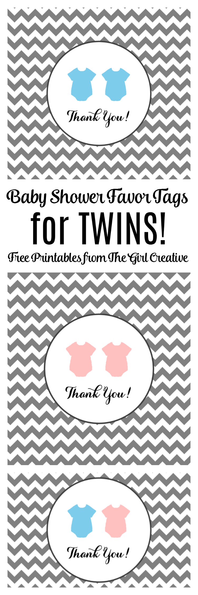 Baby Shower Favor Tags For Twins | The Top Pinned | Free Baby Shower - Free Printable Baby Shower Favor Tags Template