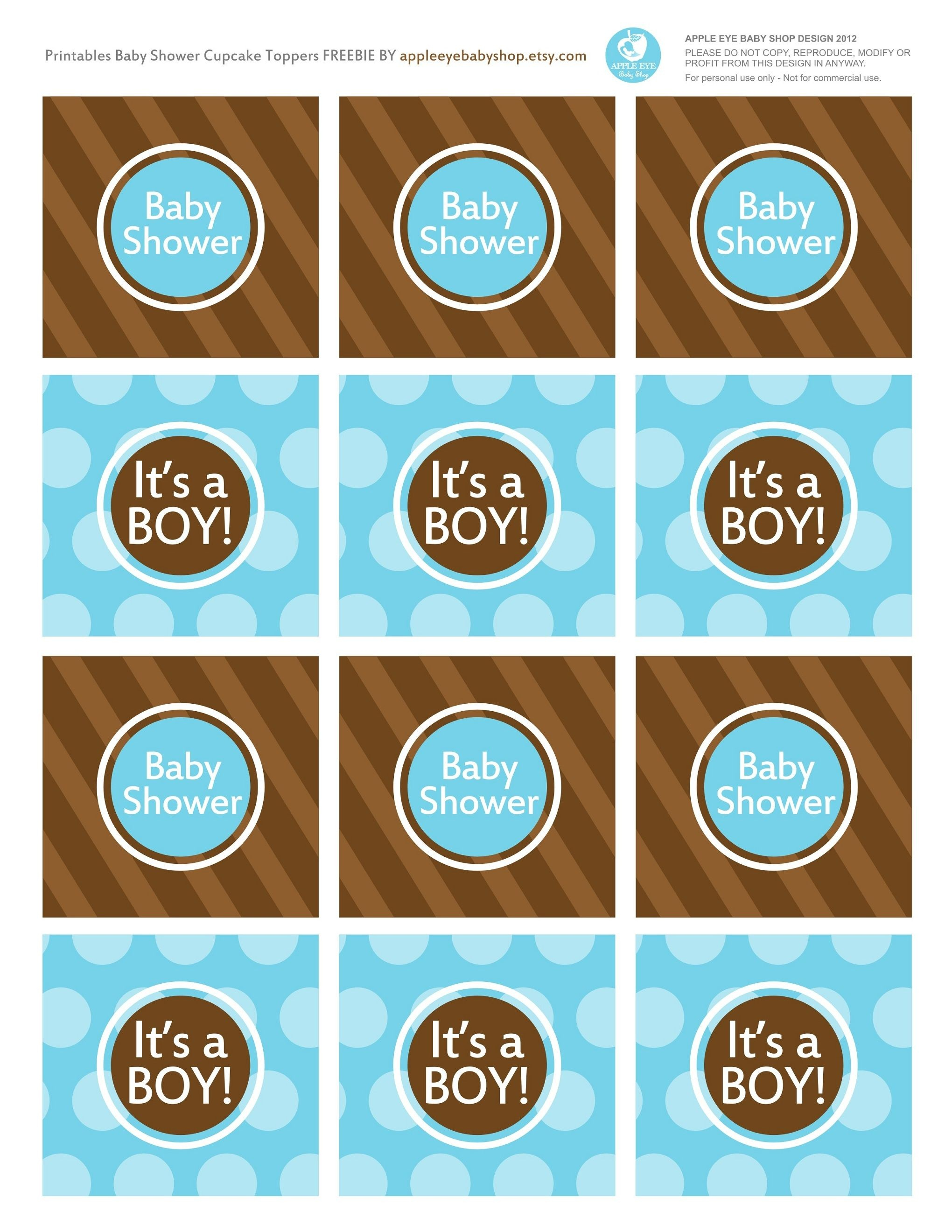 Baby Shower? Free Printables It's A Boy Cupcake Toppers Blue And - Free Printable Whale Cupcake Toppers