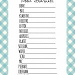 Baby Shower Games Word Scramble | Baby Shower Ideas | Free Baby   Free Printable Baby Shower Games Word Scramble