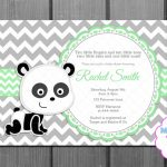 Baby Shower Invitation Green Panda Bear And Free Thank You | Etsy – Panda Bear Invitations Free Printable