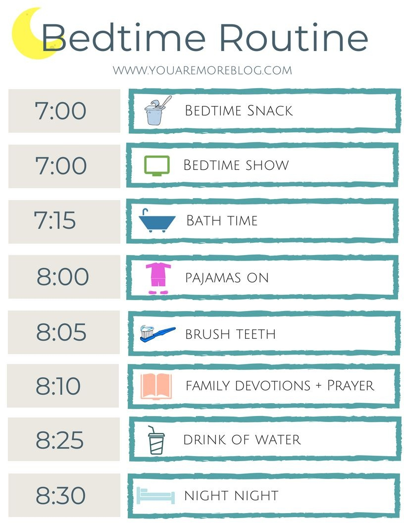 Back To School Routine Free Printable - You Are More Blog - Free Printable Bedtime Routine Chart