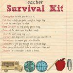 Back To School Teacher Supply Kit | Survival Kit | School Supplies   Teacher Survival Kit Free Printable