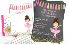 Ballet Recital Invitation Ballerina Dance Invitation Dance | Etsy – Free Printable Dance Recital Cards