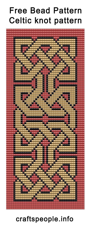 Bead Weaving Loom Patterns Free Free Bead Pattern Celtic   Beading - Free Printable Bead Loom Patterns
