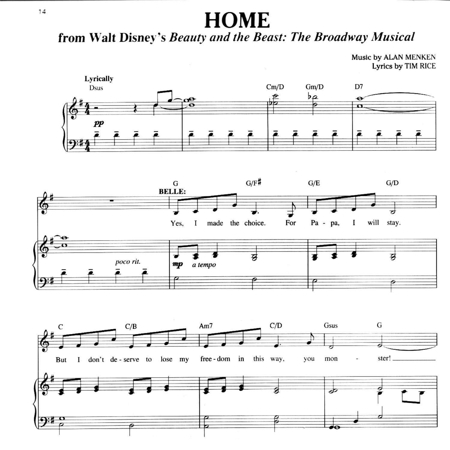 Beauty And The Beast - Home.pdf | Docdroid - Beauty And The Beast Piano Sheet Music Free Printable