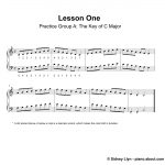 Beginner Piano Lesson Book   Piano Sheet Music For Beginners Popular Songs Free Printable