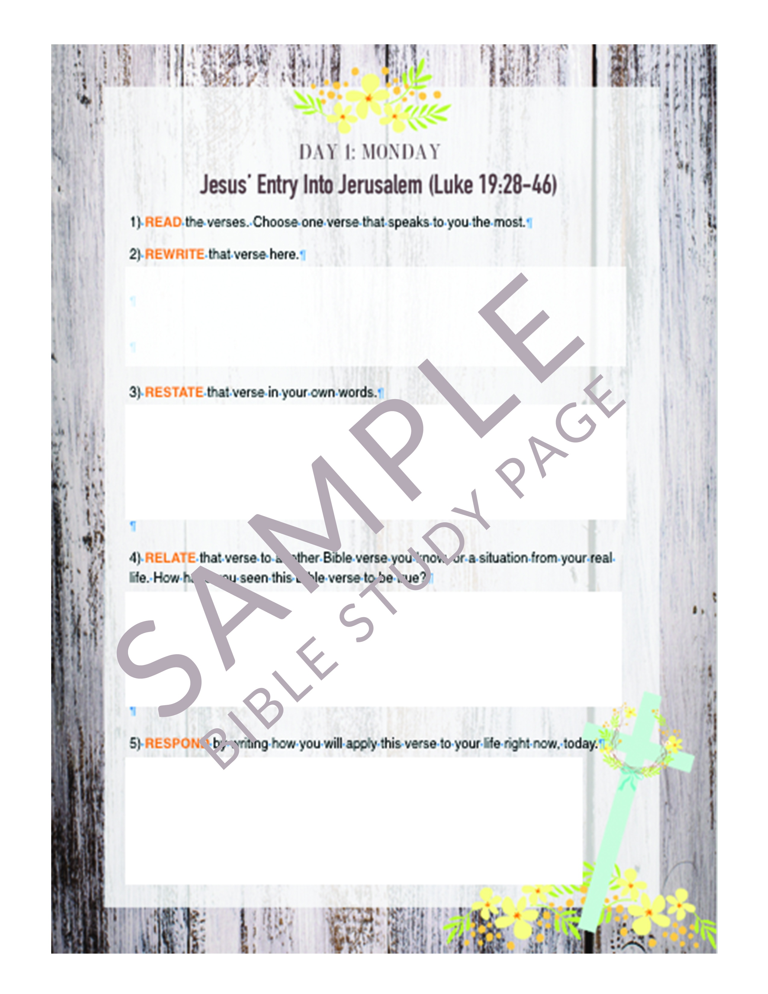 Best Easter Bible Study Lessons Printables For Families - Christ - Free Printable Bible Study Lessons With Questions And Answers