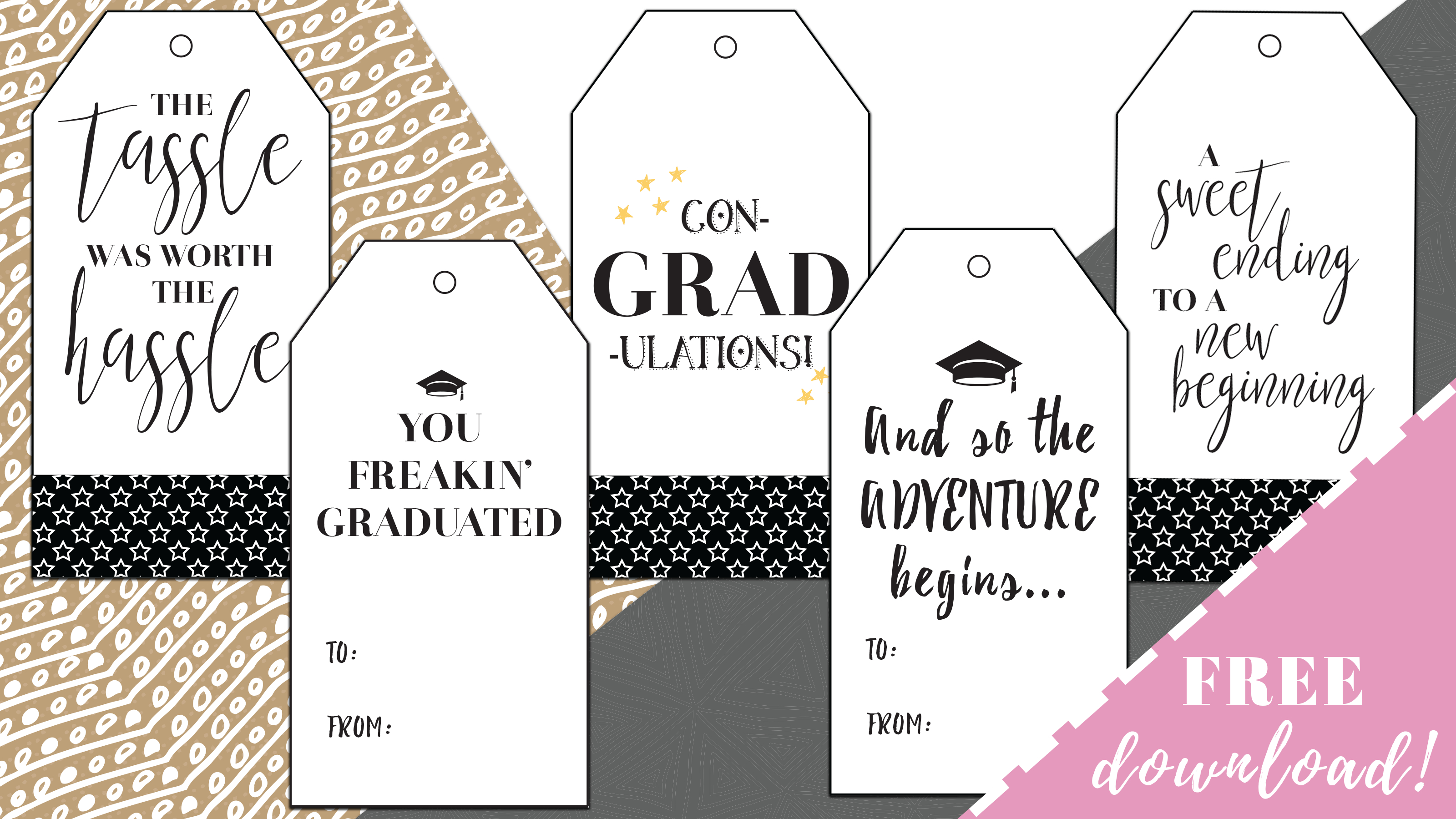 Best Free Printable Graduation Gift Tags -Sophia Lee - Free Printable Gift Tags