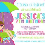 Best Pool Party Invitation Ideas | Invitations Card   Free Printable Pool Party Birthday Invitations