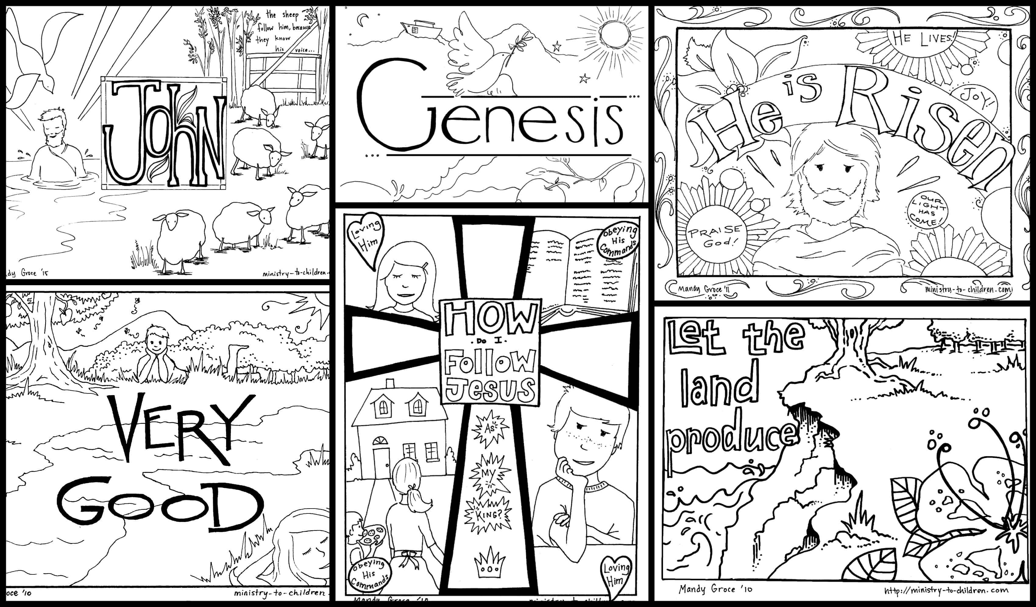 Bible Coloring Pages For Kids [Free Printables] - Free Printable Bible Story Coloring Pages