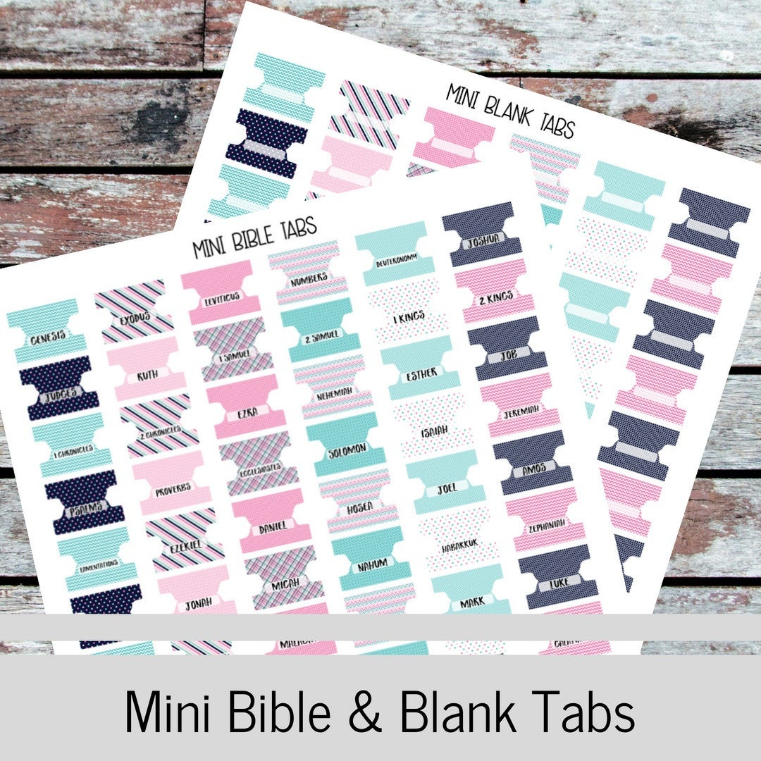 Bible Tabs-Blank Tabs-66 Books Of The Bible-Planner | Etsy - Free Printable Books Of The Bible Tabs