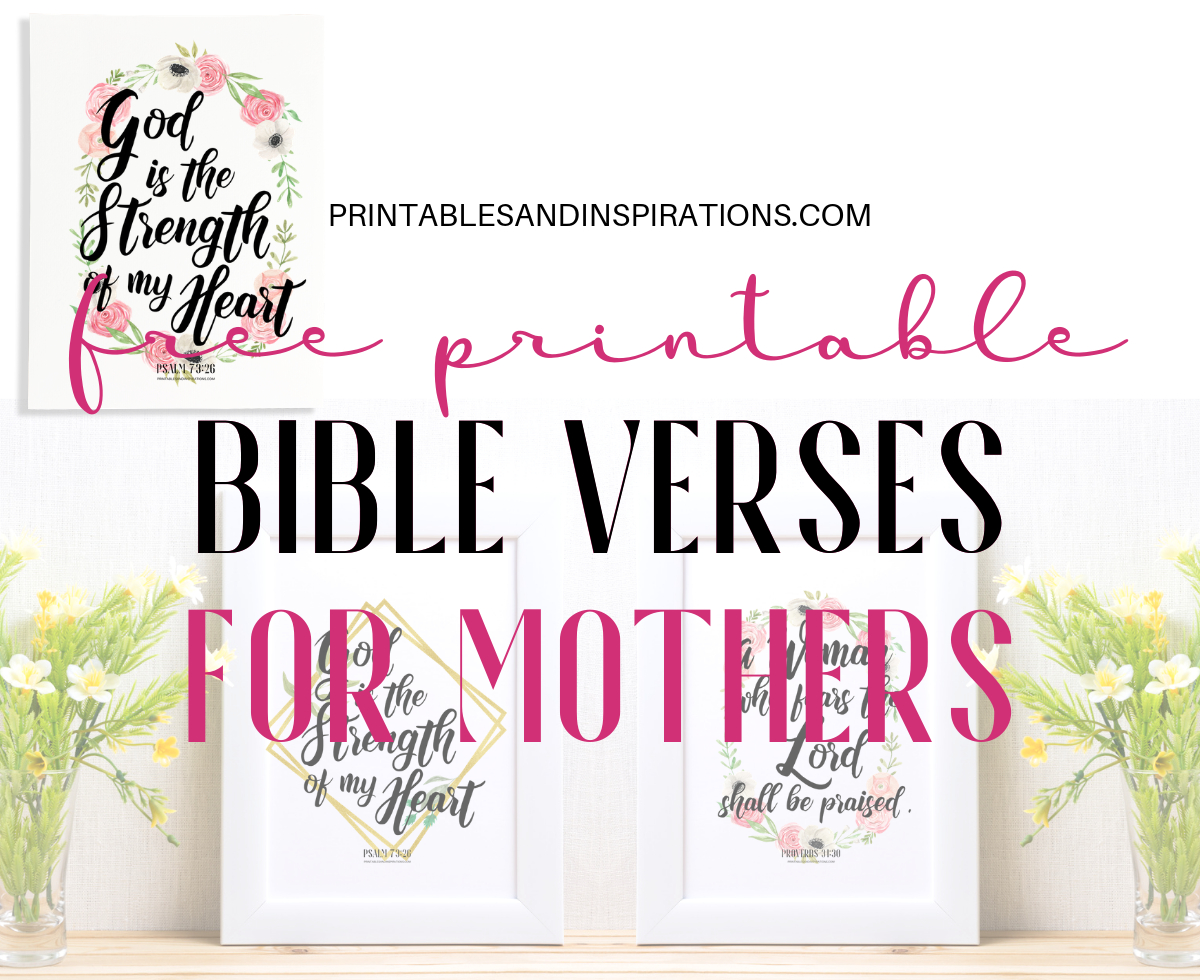 Bible Verses For Mothers - Free Printable! - Printables And Inspirations - Free Printable Scripture Verses