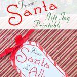 Big Free Printable Christmas Gift Tag   Press Print Party   Free Printable Gift Name Tags
