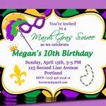 Birthday Invites Best Mardi Gras Party Invitations Card Glamours   Free Printable Mardi Gras Invitations