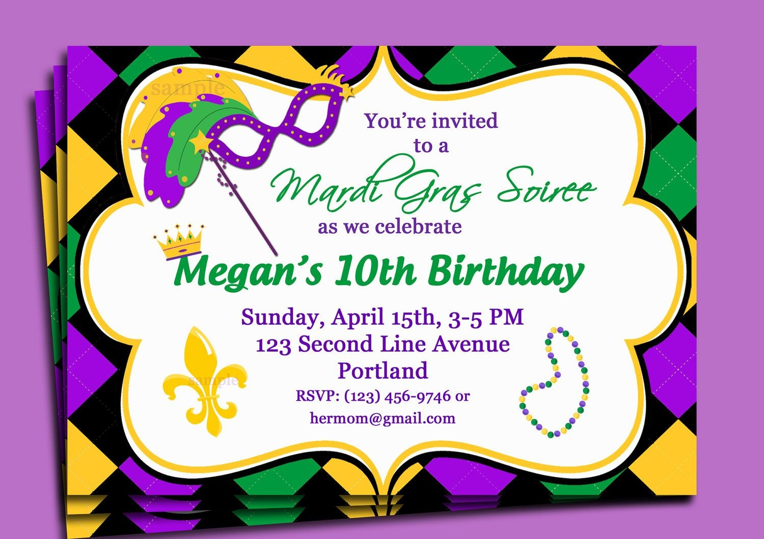 Birthday Invites Best Mardi Gras Party Invitations Card Glamours - Free Printable Mardi Gras Invitations