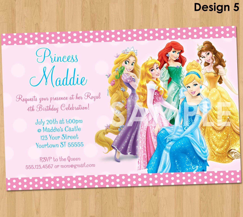 Birthday Party Dresses : Cinderella Birthday Invitation Template - Disney Princess Birthday Invitations Free Printable