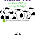 Birthday Party Thank You Cards, Purple Soccer Invitation Matching – Free Printable Soccer Thank You Cards