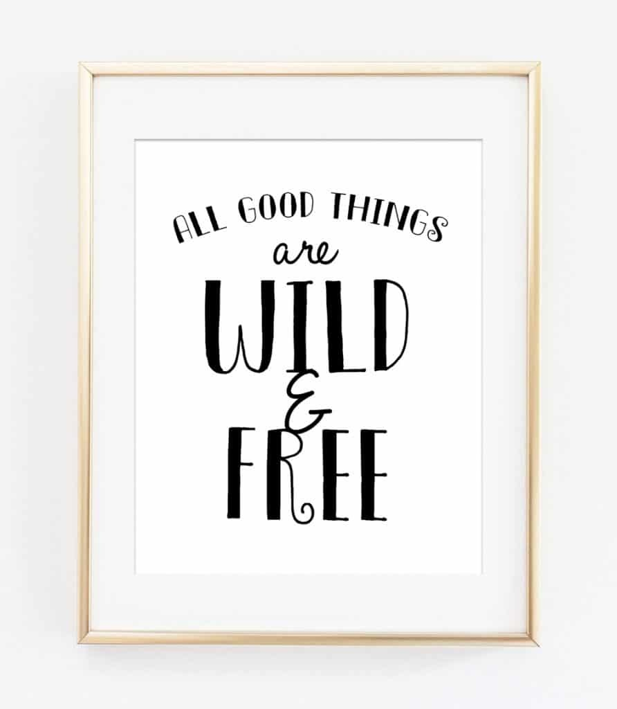 Black And White Free Printable Wall Art - Free Black And White Printable Art