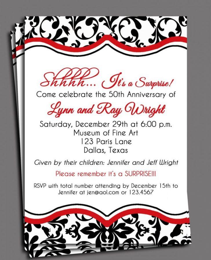 Free Printable 40Th Anniversary Invitations
