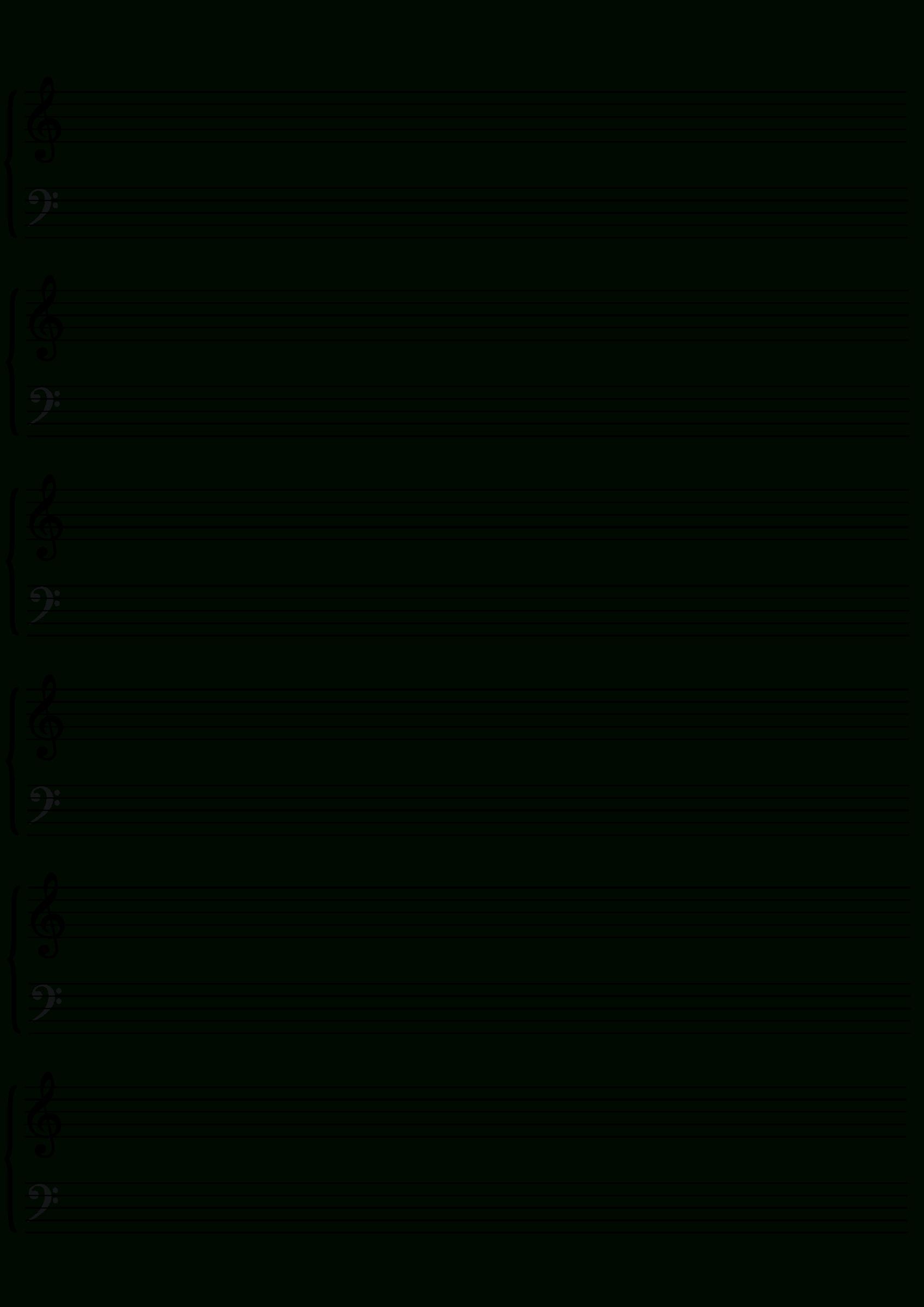 Blank Sheet Music Png & Free Blank Sheet Music Transparent - Free Printable Blank Sheet Music
