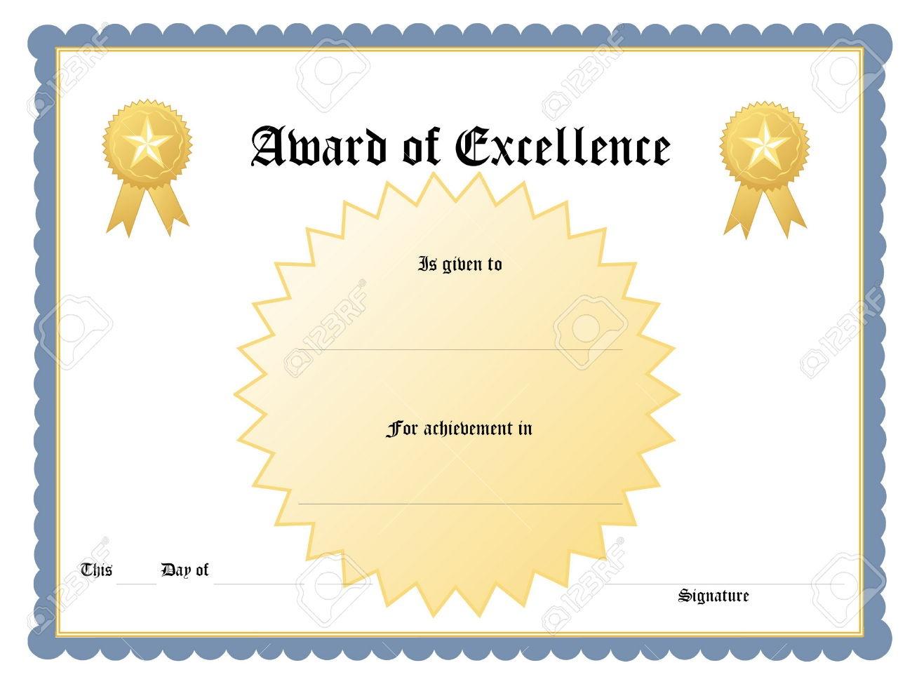 Blue-Printable-Award-Certificate-Template - Free Printable Award Certificates