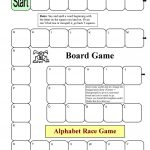 Board Game   Alphabet Race Worksheet   Free Esl Printable Worksheets   Free Printable Alphabet Games