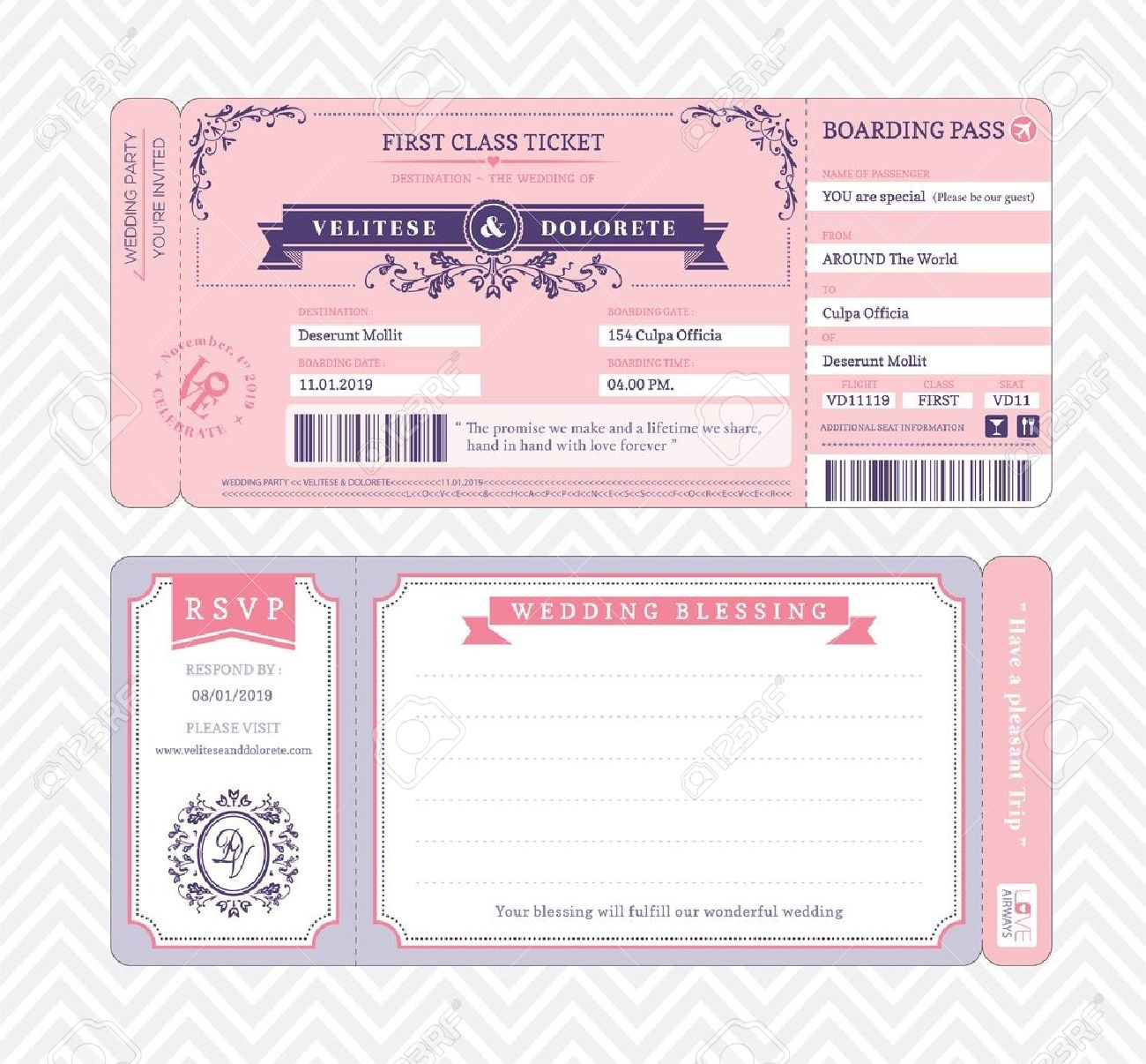 Boarding Pass Ticket Wedding Invitation Template Royalty Free - Free Printable Boarding Pass