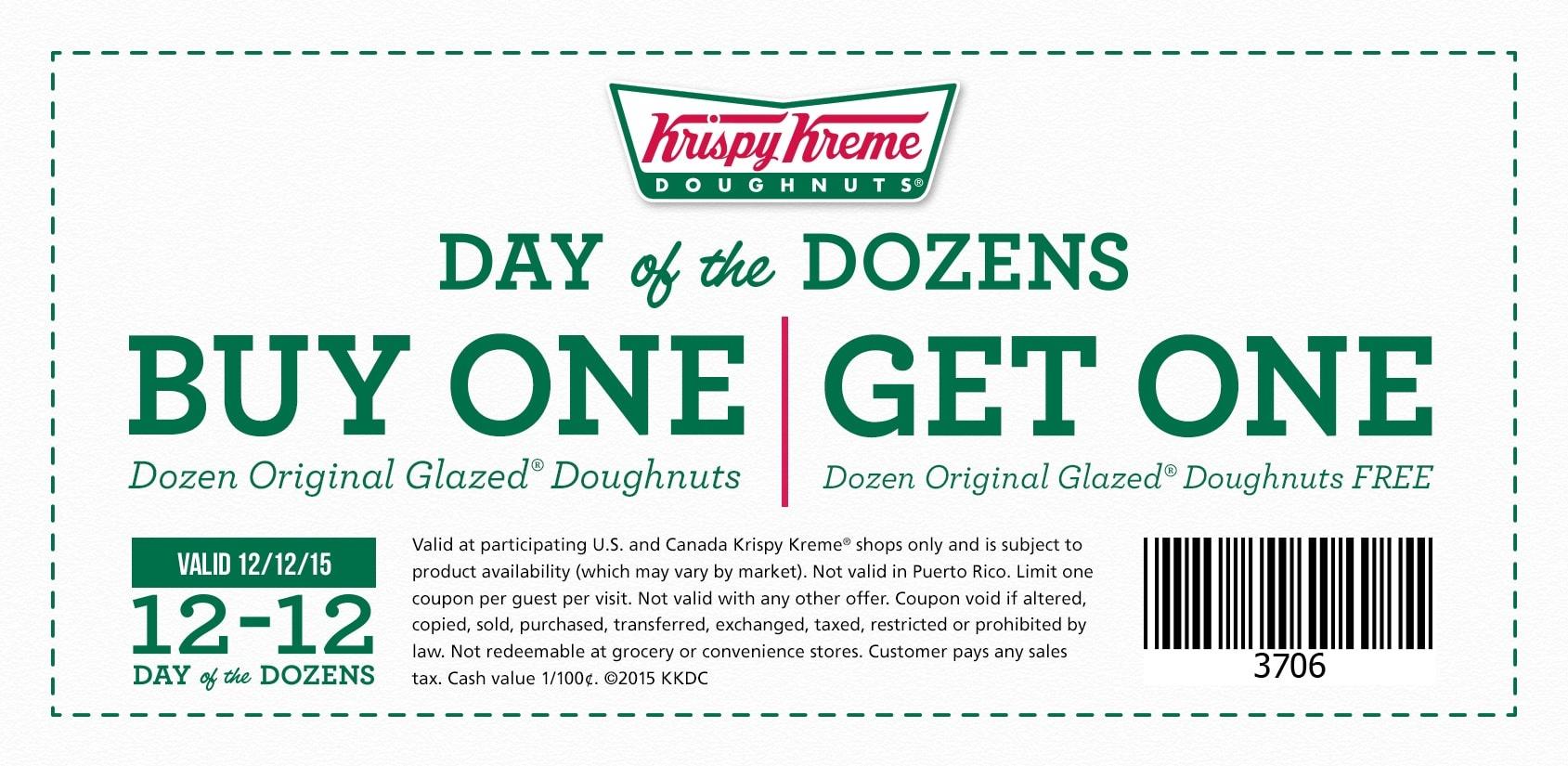 Bogo-Krispy-Kreme-Donuts-Coupons - Bogo Free Coupons Printable